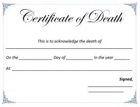 death certificate template microsoft word templates