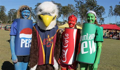 swimming carnival themes blue emmaus students sport fun outfits at athletics carnival