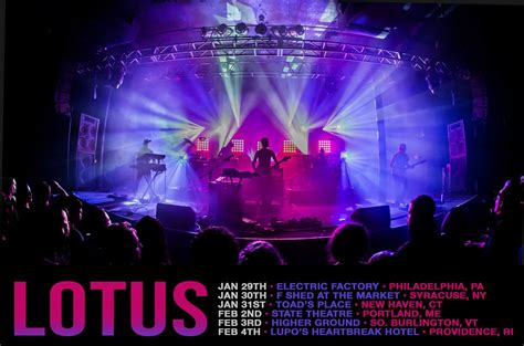 lotus tour dates concert tickets albums and songs