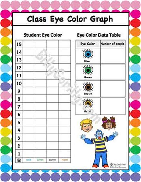 printable color graphs first grade bar graph worksheet eye color first best