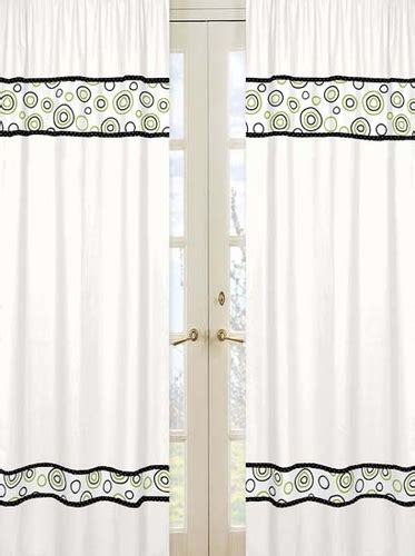 Black Window Treatments Spirodot Lime And Black Window Treatment Panels By Sweet