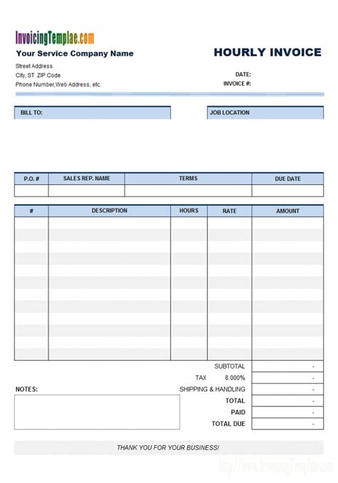 Invoice Template Hours Worked Denryoku Info Cashboard Invoice Template