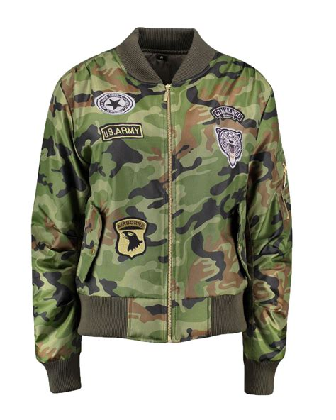 Bomber Pacht Army Ml ma1 army patches classic bomber camouflage jacket padded coat ebay