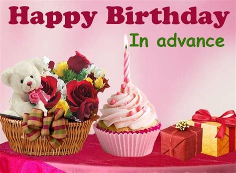 Happy Birthday Wishes In Advance Sms Advance Happy Birthday Wishes Birthday Greetings Sms