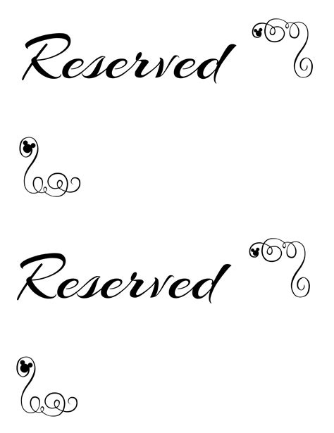 reserved tent card template reserved seating sign template pictures to pin on