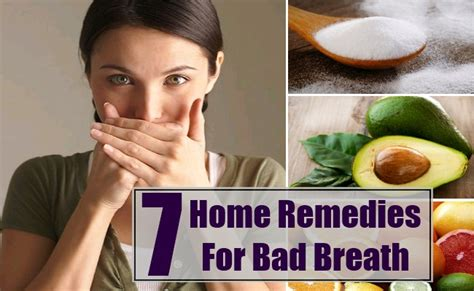 7 home remedies for bad breath treatments and