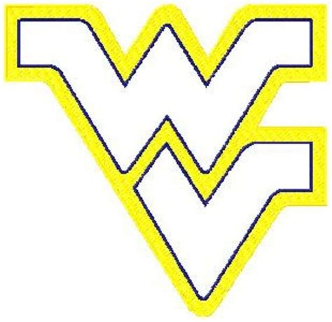 photo of 13 west virginia applique and filled logo machine embroidery design in tons of sizes