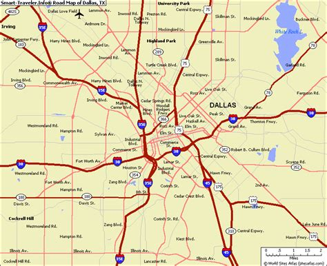 dallas texas on us map map of dallas texas map2