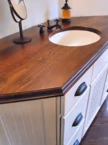 Wooden Countertops For Bathrooms Walnut Grain Wood Vanity Countertop