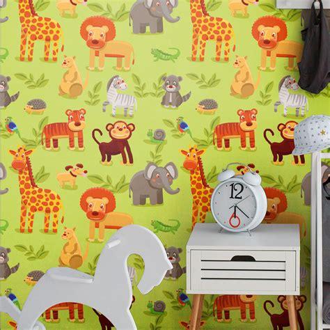 Stickers Tapisserie sticker tapisserie chambre enfant animaux d afrique