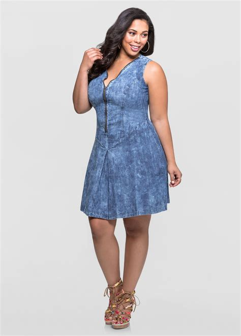 Everyones Looking For The Jean Length by Lus Size Denim Dresses Csmevents