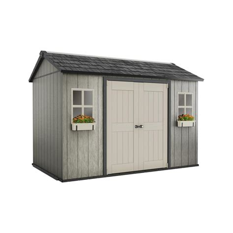 outdoor sheds keter my shed 11 ft x 7 5 ft fully customizable storage