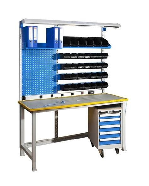 workbench with drawers and light esd workbench with esd worktop complete mobile drawer