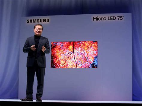 Samsung 219 Inch Tv Ces 2019 Samsung Launches Modular Microled The Window And 219 Inch Tvs Gadgets Now