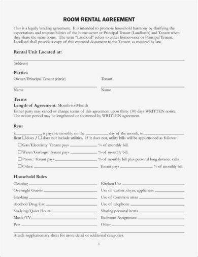 rental agreement letter examples word apple