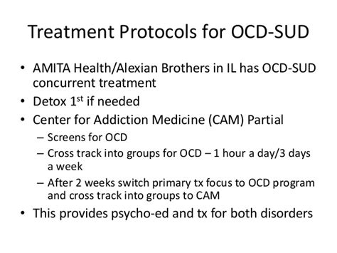 Alexian Brothers Detox by Stacey Conroy Treating Ocd And Sud Tools For Effective