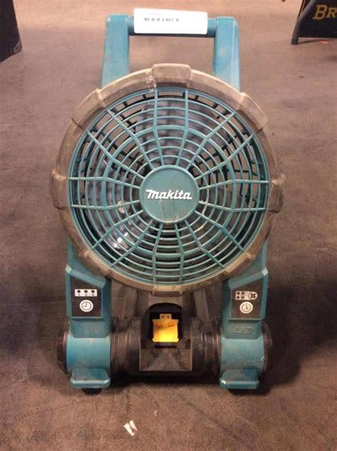 battery operated box fan makita battery operated standing shop fan
