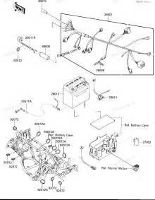 kawasaki atv parts 1986 klf300 a1 bayou 300 chassis electrical equipment diagram