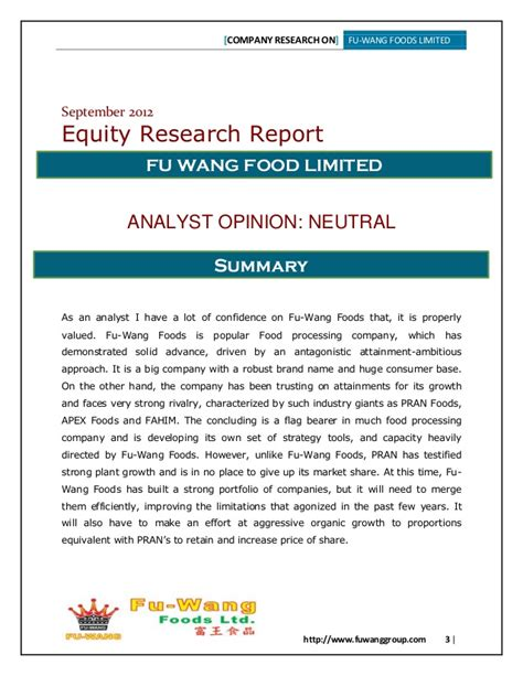 equity research report sle equity research report