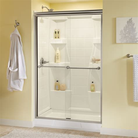 Bypass Shower Doors Frameless Dreamwerks 48 In X 72 In 8mm Thick Glass Frameless Bypass Shower Door In Polished Chrome