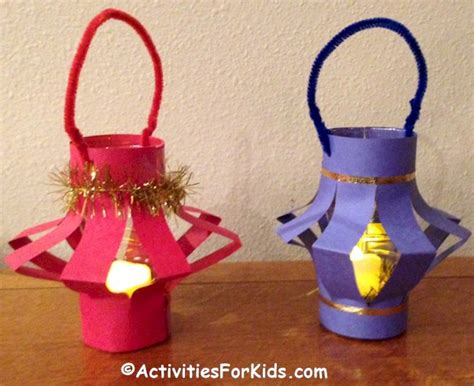 paper craft lanterns paper lanterns activity activities