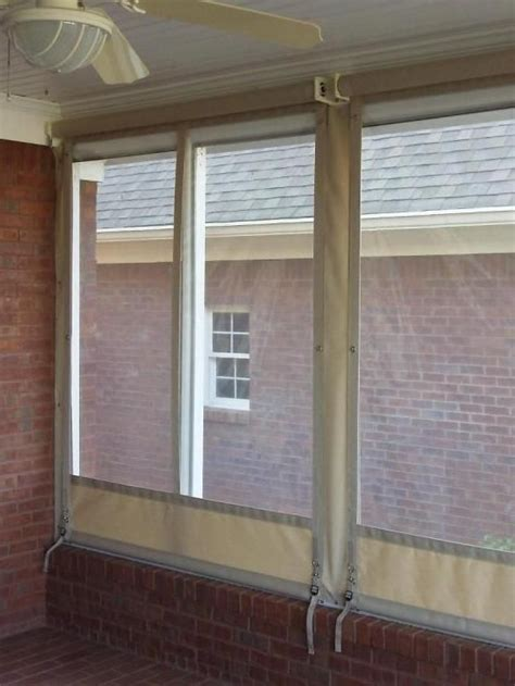 clear plastic curtains for screened porch 17 best ideas about screened porch curtains on pinterest