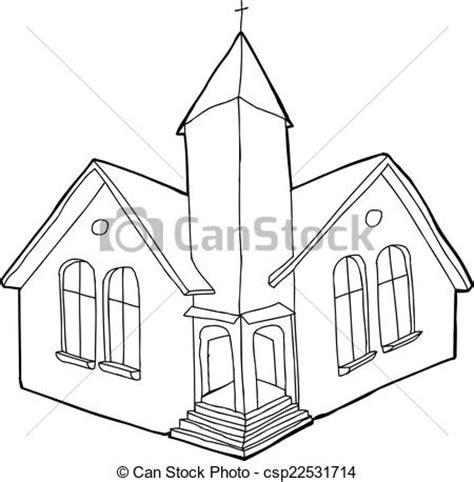 imagenes de iglesias blanco y negro vector clip art de contorneado cristiano iglesia solo