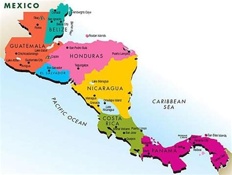south of mexico map middle and south america geography 102 with