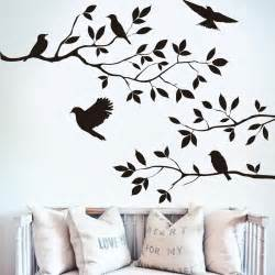 Decals For Home Decor by Black Bird Tree Branch Monster Wall Paper Decals Removable