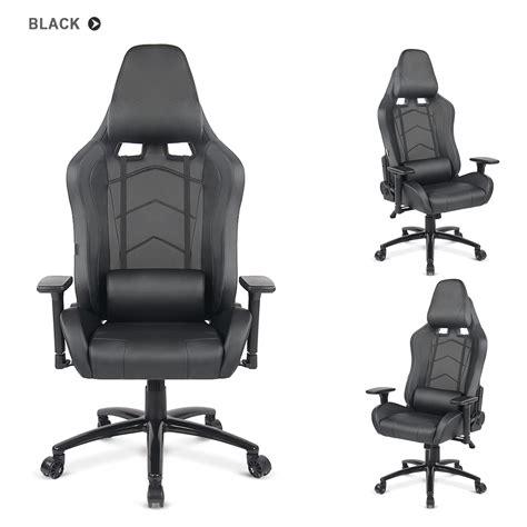 Black Ikayaa Ergonomic Racing Gaming Office Computer Desk Desk Chair Gaming
