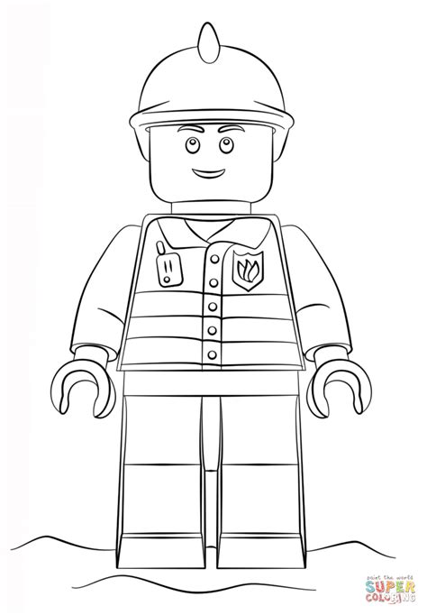 lego vire coloring pages lego fireman free coloring pages