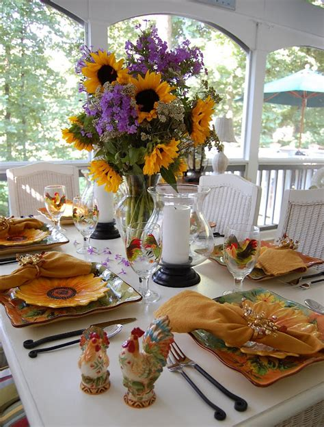 sunflower table settings here comes the sun sunflowers table settings and