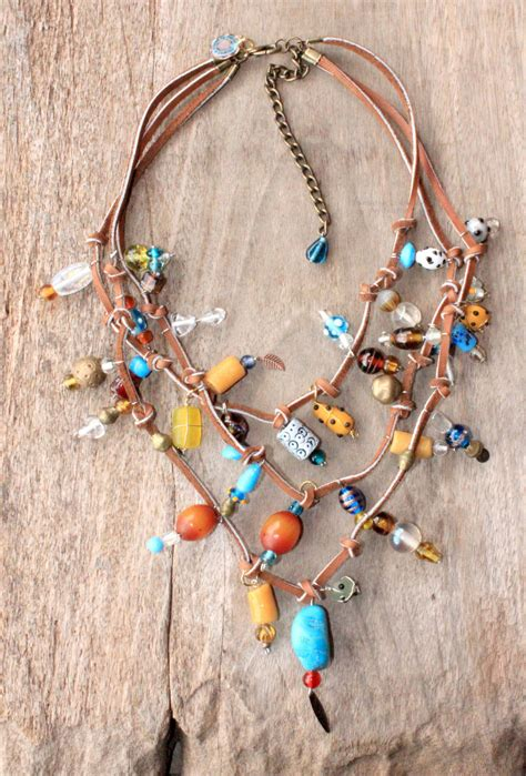how to make bohemian jewelry shining bohemian g ypsy leather necklace beaded with
