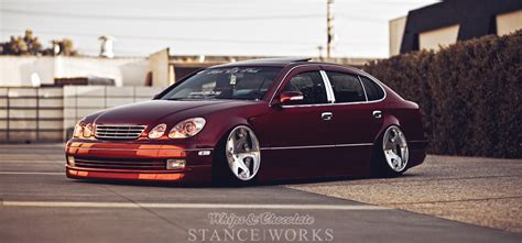 bagged lexus gs300 jdm stance works