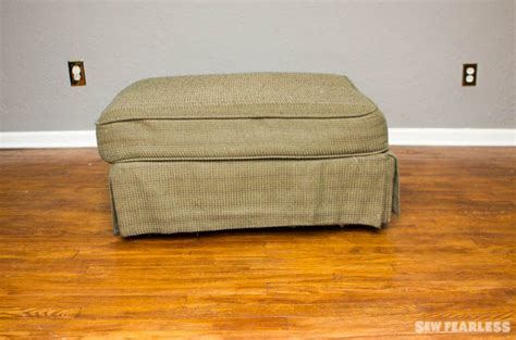 How To Reupholster A Leather Ottoman How To Reupholster