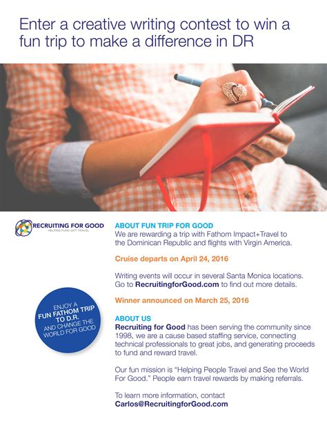 Creative Writing Essay Contest by Recruiting For Launches Contest To Reward A Caribbean Cruise For