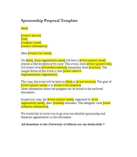 how to write a sponsorship template 40 sponsorship letter sponsorship templates