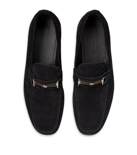ermenegildo zegna loafers ermenegildo zegna suede loafer in black for lyst