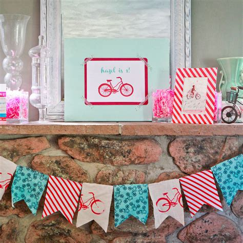 bicycle themed home decor vintage bike party garland