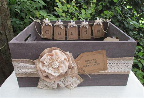 Wedding Card Crate bushel crate wedding card holder post box