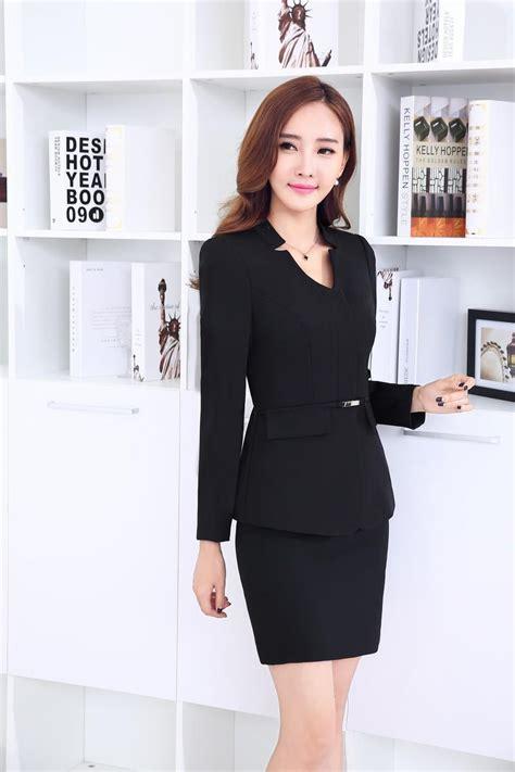 Vest Set Blazer Dress Skirt formal black blazer business suits with skirt and