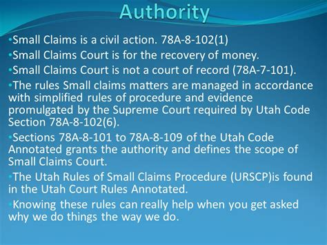 Small Claims Court Records Small Claims For Justice Court Clerks Ppt