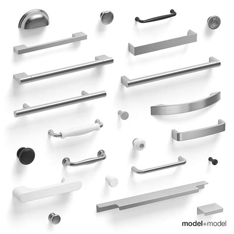 Handle 3d Model Free handles kitchen cabinets 3d model
