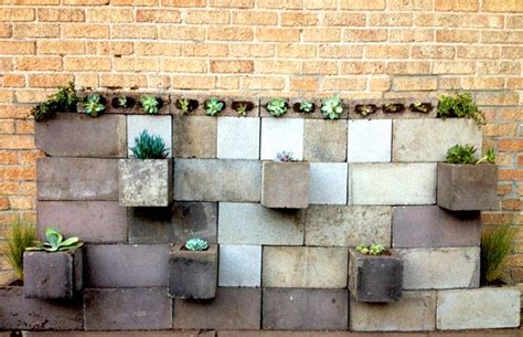 Cinder Block Wall Planter by Diy Projects With Cinder Blocks Ideas Inspirations