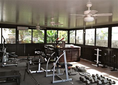 sunroom gym aluminum home additions tip sheet sunrooms screen
