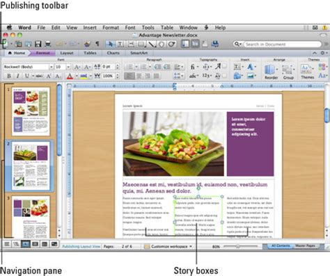 picture layout in word using the publishing layout view in word for mac 2011