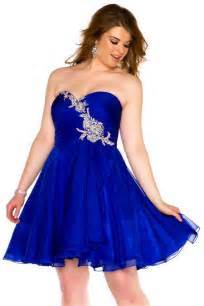 a line strapless short royal blue chiffon beaded