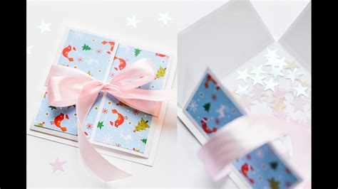 how to make a pop out card step by step how to make gift box pop up card step by