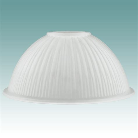 7918 frosted ribbed neckless shade glass lshades