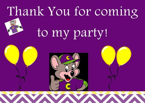 Printable Chuck E Cheese Thank You Cards | chuck e cheese thank you notes by jensprintsandmore on etsy